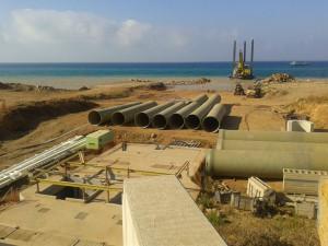 Topografía de seguimiento. Dragado y canalización Obra Marina. UTE Desaladora Ténès (Argelia).